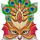 Creative portrait a cat in a mask by Alena Lazareva