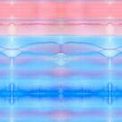 Hand-Painted Watercolor Blue Pink Ombre Gradation by Beverly Claire Kaiya