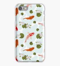 Japanesse Fish Pattern Background iPhone Case/Skin
