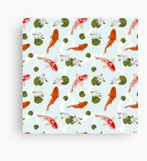 Japanesse Fish Pattern Background Canvas Print