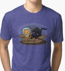 Kitten and Alien Tri-blend T-Shirt
