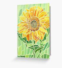 Sunflower Mosaic Artwork Greeting Card