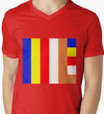 Buddhism Flag Men's V-Neck T-Shirt