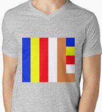 Buddhism Flag Mens V-Neck T-Shirt