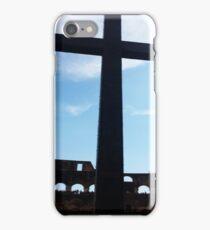 Crucifix Over Colosseum  iPhone Case/Skin