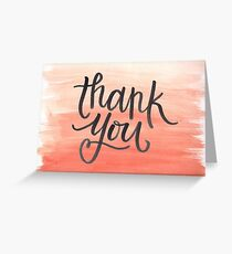 Thank You Ombre Greeting Card