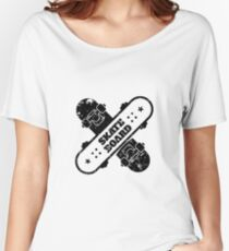 T-shirt Skate Bord Women's Relaxed Fit T-Shirt