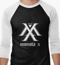 Monsta X Logo White Men's Baseball ¾ T-Shirt