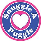 PUGGLE SNUGGLE A PUGGLE DOG HEART I LOVE MY DOG PET PETS PUPPY STICKER STICKERS DECAL DECALS by MyHandmadeSigns
