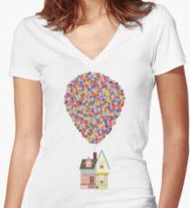 Balloons Women's Fitted V-Neck T-Shirt