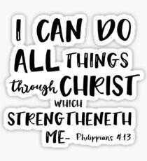 I can do all things through Christ Bible Verse Sticker