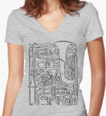 Dat Brass Women's Fitted V-Neck T-Shirt
