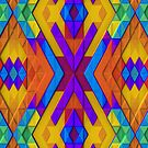 Colorful, Geometric Pattern with Slight 3-D Effect by Lyle Hatch