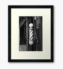 RainbowConfetti Vintage Barber Pole II Framed Print