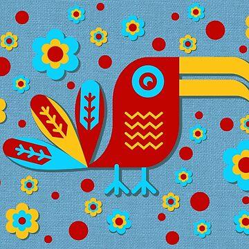 Tucán, pájaro, birdy, colorido, vector, formas de boom-art