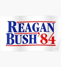 Reagan Bush 84 Poster