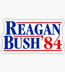 Pegatina Reagan Bush 84