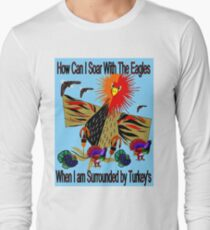 """""""SOARING WITH EAGLES"""" Abstract Comical Print T-Shirt"""