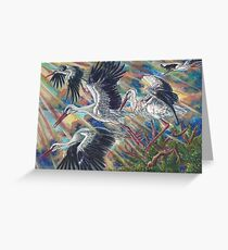 Storks at Sunrise Greeting Card