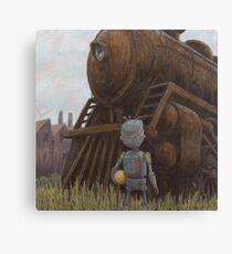 robot train Canvas Print