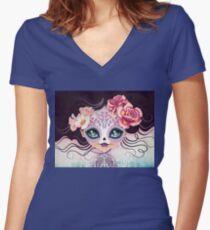 Camila Huesitos - Sugar Skull Women's Fitted V-Neck T-Shirt