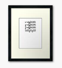 wiggle, wiggle, wiggle Framed Print