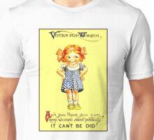 """WOMENS SUFFRAGE"" Vintage (1930s) Advertising Print Unisex T-Shirt"