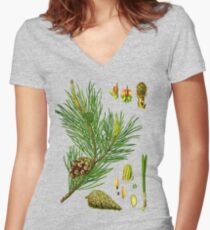 pine Women's Fitted V-Neck T-Shirt
