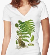 fern Women's Fitted V-Neck T-Shirt