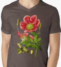 wild peony Men's V-Neck T-Shirt