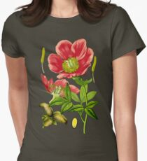 wild peony Women's Fitted T-Shirt