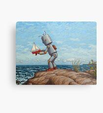robot sailboat Metal Print