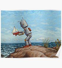 Roboter Segelboot Poster