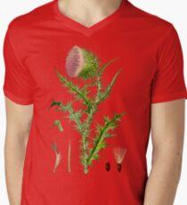 thistle Mens V-Neck T-Shirt
