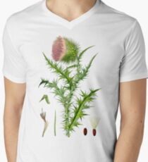 thistle Mens V-Neck T-Shirt