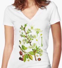sour cherry Women's Fitted V-Neck T-Shirt