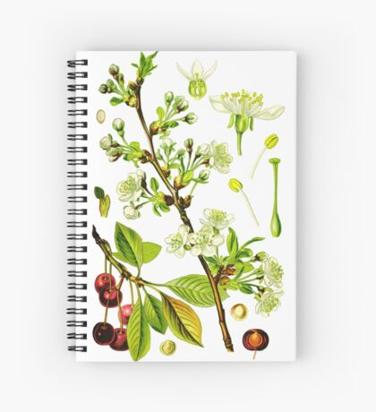 sour cherry Spiral Notebook