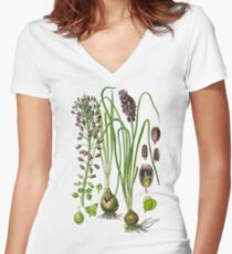 hyacinthe Women's Fitted V-Neck T-Shirt