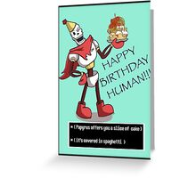 Papyrus happy birthday metal prints by jessietriesart redbubble greeting card bookmarktalkfo Images