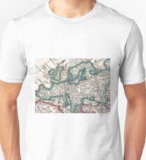 Vintage Map of Europe (1685) T-Shirt