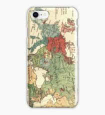 Vintage Linguistic Map of Europe (1907) iPhone Case/Skin
