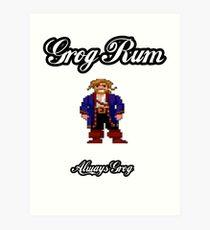 Monkey Island Grog Rum Art Print