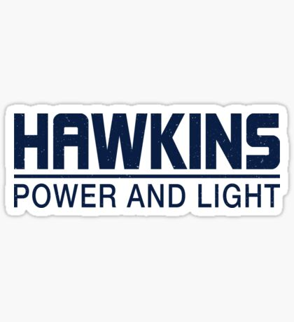 Hawkins Power and Light Sticker