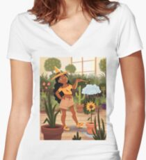 Bumble Bee Witch Women's Fitted V-Neck T-Shirt