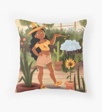 Bumble Bee Witch Throw Pillow
