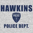 Hawkins Indiana Police Department Shield by Crocktees