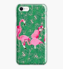 Flamingos on delicious monsters iPhone Case/Skin