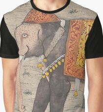 Vintage Decorated Elephant Painting (17th Century) Graphic T-Shirt