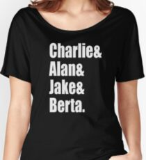 Two And A Half Men Cast Women's Relaxed Fit T-Shirt