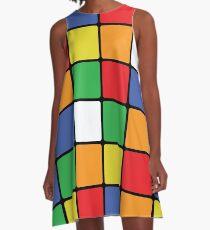 Multi Cube A-Line Dress